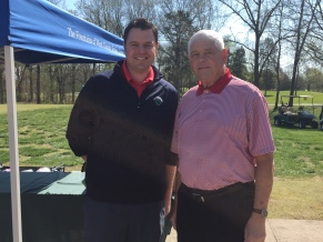 Jim Hart with event organizer Luke Mraz from Sunnyhill, Inc.